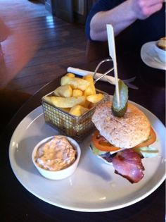Beef Burger @ The Victoria Holkham
