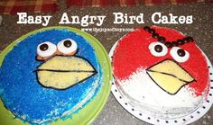 Easy Angry Bird Cakes. I fixed the broken link.    My 4 year-old was so excited to see these!  www.thejoysofboys.com