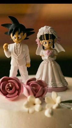 Dragon ball z goku and chichi wedding toppers
