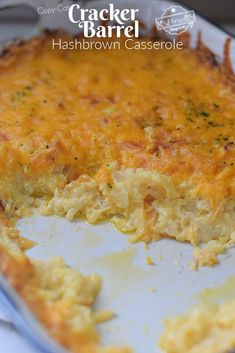 Crockpot Hashbrown Casserole, Biscuits And Gravy Casserole, Cracker Barrel Hashbrown Casserole, Hashbrown Breakfast Casserole, Hash Brown Casserole, Cracker Barrel Recipes, Cracker Barrel Biscuit And Gravy Recipe, Brunch Recipes, Breakfast Recipes