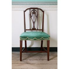 delicate Federal period dining room chair from Mount Vernon