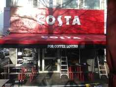 The Costa Coffee at Premier Inn has had a new installed! Awning Shade, Premier Inn, Costa Coffee, Neon Signs, Shades, Amazon, Outdoor, Outdoors, Amazons