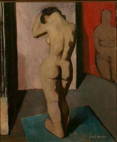 Felice Casorati (Italian, 1883-1963) - Girl in the studio, 1930