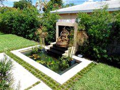 Related image Feng Shui Garden Design, Backyard, Patio, Water Features, Zen, Sidewalk, Spas, Pools, Outdoor Decor