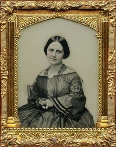 Identified Yankee Mrs Major King Outstanding Civil War Ambro From New York