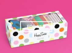 Gift boxes for holiday season - Contains 4 pairs of Happy Socks' fun socks