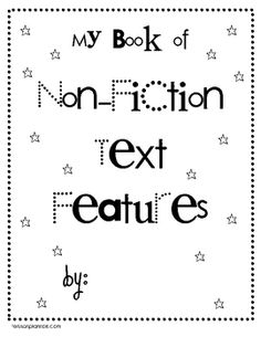 Use this 10 page packet as a way for students to show what they know about non-fiction text features or pass the sheets out individually as they pe...
