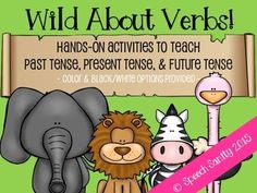 hands-on activities to teach past tense, present tense, and future tense