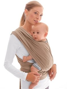 Upright baby sling - seems way easier than a baby bjorn