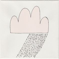 """""""rain"""", white, 20x20cm, € 34,- Symbols, Letters, Shopping, Drawing Rooms, Icons, Letter, Fonts, Glyphs, Calligraphy"""