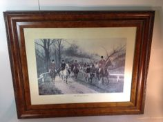 Vintage Print of English Riders The First of November by G Wright