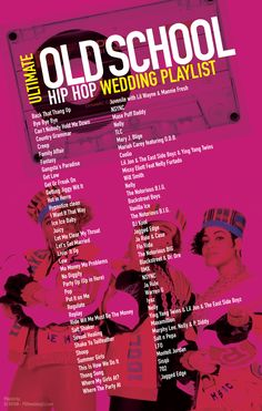 Old School Hip Hop Wedding Playlist most requested 90's songs