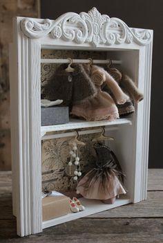 "Chair angel demon for Dolls 12/"" 1:6 for Barbie furniture OOAK wooden wings bird"