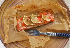 Salmon in papillote, an easy weeknight dinner