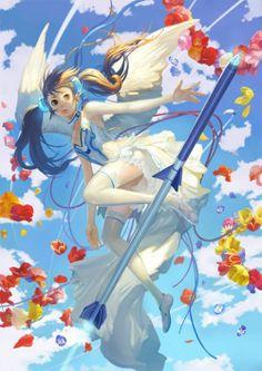 As lindas mulheres nas ilustrações de fantasia, animes e games de Toshiaki Takayama - Flores e fantasia