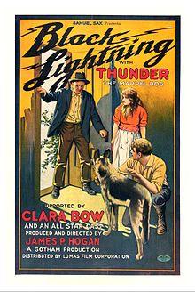 Black Lightning (1924) - Clara Bow and Thunder the dog