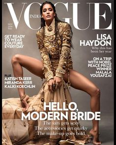 Lisa Haydon is a 'Glamazon Queen' on the latest issue of Vogue India.