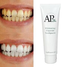 so I know y'all may have seen this crazy whitening toothpaste circulating. Benefits: - Brightens and Whitens teeth - helps remove stains -helps remove and prevent plaque buildup -helps prevention of dental caviti Nu Skin, Ap 24 Whitening Toothpaste, Whitening Fluoride Toothpaste, Skin Whitening, Remover Manchas, Coffee Staining, White Teeth, Anti Aging Skin Care, At Least