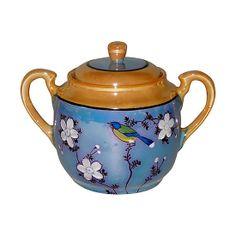 Japanese Blue Robin  Sugar Bowl