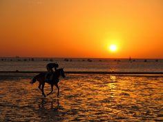 Carreras de caballos en Sanlucar de Barrameda, Cadiz