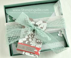 Gift Boxed Set of All Occasion Greeting Cards with handmade heat embossed gift tag.