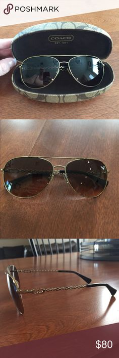 756c907e00 Coach ladies aviators Coach Ladies aviators with case. No scratches.