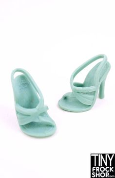 These Gucci style heels are strappy in a modern asymmetrical way - should fit all Barbies.