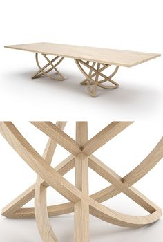CHORUM Rectangular wooden #table by Belfakto #wood