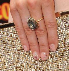 Rhinestone Nail Art! I want my nails something like this for my wedding.