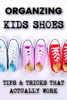 Tired of digging through the pile of shoes in the bottom of the closet? Today we are here with the best ideas to help you organize kids shoes and keep them that way. DIY shoe organization ideas that work for kids and your entire family. Kids shoe organization ideas for closets, baskets and entryways. Great solutions for small spaces too. Kids Shoe Organization, Kids Shoe Storage, Toddler Schedule, Toddler Sleep, Parenting Toddlers, Shoe Organizer, Homemaking, Declutter, Shoes