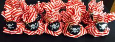 Items similar to Pirate party favour loot bags on Etsy Pirate Party Favors, Pirate Theme, Party Bags, Party Party, Pirate Bandana, Rose Gold Gifts, Gold Gift Boxes, Bubble Party, Party Poppers