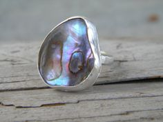 Abalone Ring sterling silver shell ring   by ChildrenofFlowers, $89.00