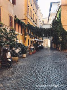 The streets of Trastevere, Rome in October #italy
