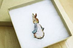 Hey, I found this really awesome Etsy listing at https://www.etsy.com/listing/206985977/peter-rabbit-brooch-pin-laser-cut