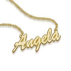 14K Gold Script Name Necklace (3-12 Letters)