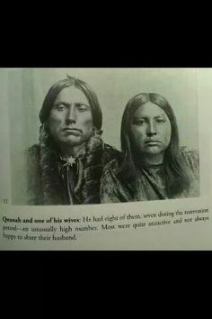 Quanah Parker with one of his wives Native American Church, Native American Images, Native American Wisdom, Native American Regalia, Native American History, American Indians, Quanah Parker, Indian Pictures, Canadian History