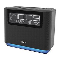 The Bedside Alexa Alarm Clock from iHome is a great looking, speaker system for listening to music on your iPod or iPhone. It features a USB port, perfect to charge your devices, and also has the convenient Alexa voice service. College Board, Alexa Voice, Speaker System, Black Bedding, Digital Alarm Clock, Bedside, Dorm Room, Usb, Classy
