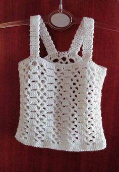 T-shirt Au Crochet, Mode Crochet, Crochet Shirt, Crochet Woman, Crochet For Kids, Crochet Stitches, Crochet Summer, Crochet Bikini, Knitting Patterns