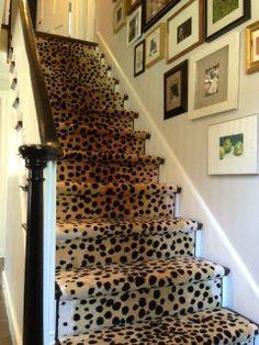 leopard carpet stair runner