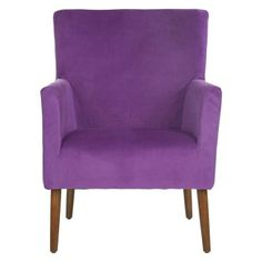 Mercer Modern Everett Arm Chair in Purple | Nebraska Furniture Mart