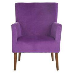Mercer Modern Everett Arm Chair in Purple   Nebraska Furniture Mart