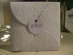 Wedding invite (embossing with cricut)