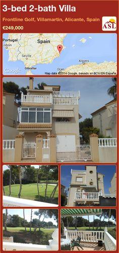 3-bed 2-bath Villa in Frontline Golf, Villamartin, Alicante, Spain ►€249,000 #PropertyForSaleInSpain
