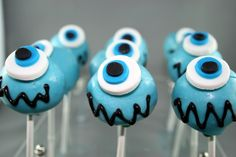 cake pops! Would be a cute idea for a monster inc party