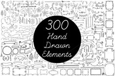Check out Vector Hand Drawn Elements Vol.2 by Arys Design on Creative Market
