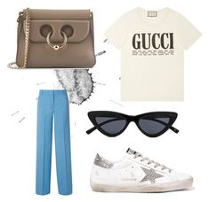 """Spring 1"" by varvara2v on Polyvore featuring мода, Theory, Gucci, Golden Goose, J.W. Anderson и Le Specs"
