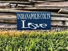 Indianapolis Colts Indianapolis Colts Sign by CharmingWillows