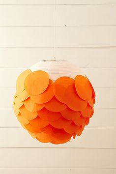 DIY Paper Lantern! - use my existing paper latterns and match it to my party colors instead of buying new.  Imagine the prints that could be used!