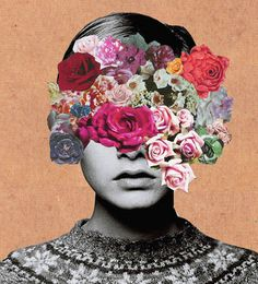 Creative Photos, Ste, Flower, Twiggy, and Collage image ideas & inspiration on Designspiration Collage Kunst, Art Du Collage, Flower Collage, Face Collage, Art Collages, Collage Portrait, Collage Drawing, Collage Photo, Collage Art Mixed Media