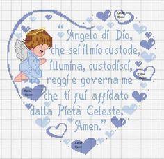 Cuore angelo di Dio (azzurro)